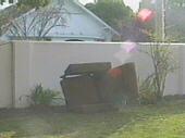 Armchair in the garden