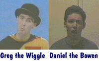 Greg the Wiggle and Daniel the Bowen