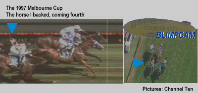 [1997 Melbourne Cup: The horse I backed, running fourth]