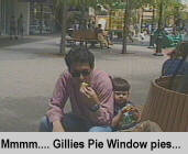 [Mmm... Gillies Pie Window pies...]