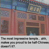 [The most impressive temple... Ahh, makes you proud to be half-Chinese, doesn't it?]