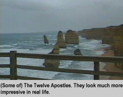 [(Some of) The Twelve Apostles. They look much more impressive in real life.]