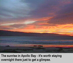 [The sunrise in Apollo Bay - it's worth staying overnight there just to get a glimpse.]