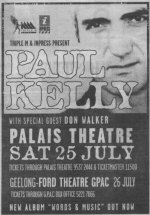 Paul Kelly concert advert