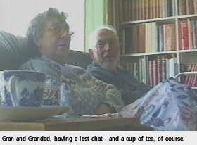 Chatting with the grandparents