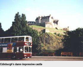 Edinburgh's damn impressive castle