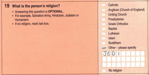 Jedi on the Census form