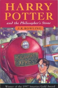 [Harry Potter book cover]