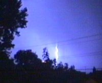 [Lightning storm tonight]