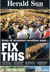 Herald Sun cover. Click for an enlargement