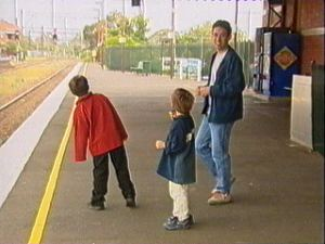 Pretending to wait for a train (on a platform not used at weekends)