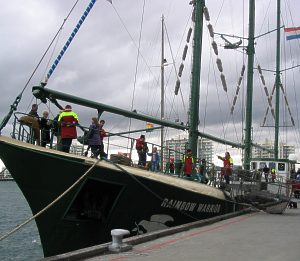 The Rainbow Warrior at Station Pier