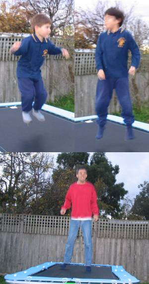 The ups and downs of trampolines