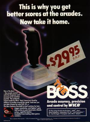 The Boss joystick, advert from 1984. Click for enlargement