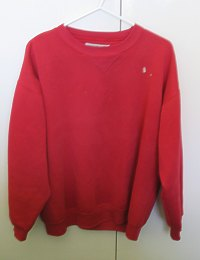 Old red jumper