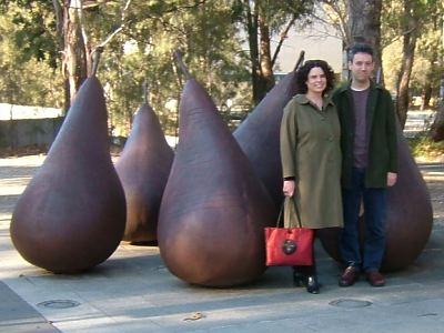 Marita and Daniel and giant pears