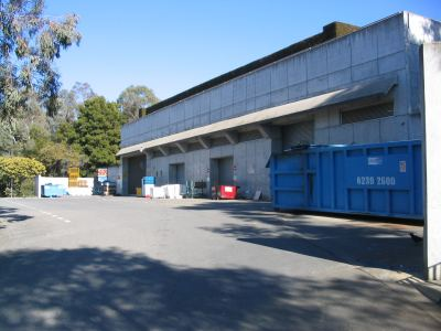 Loading dock, Parliament House, Canberra