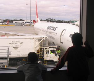 Inspecting the plane