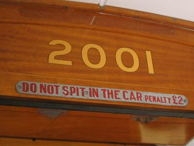 Do not spit in the car
