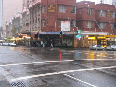 Goulburn Street, Sydney, in the rain