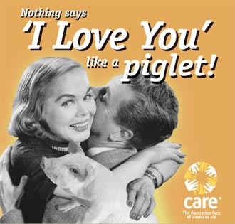 Nothing says 'I love you' like a piglet!