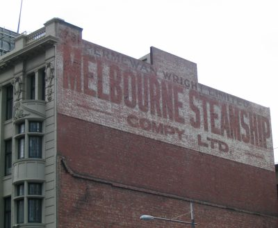 Melbourne Steamship Company sign