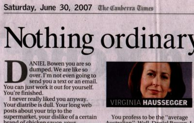 Canberra Times article