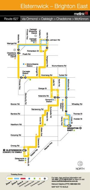 Bus 627 map