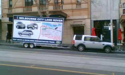 Mobile Land Rover billboard