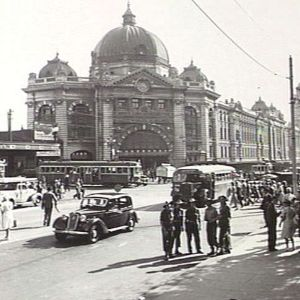 Flinders Street Station, 9th February 1945