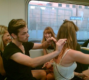 Hairdresser on train 1