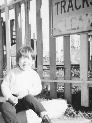 Daniel circa 1973, at Albert Park station