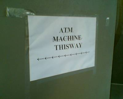 ATM Machine this way