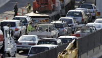 M1 blockage, picture from HeraldSun.com.au