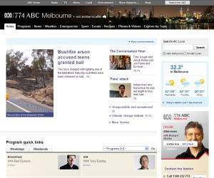 ABC web site early 2010