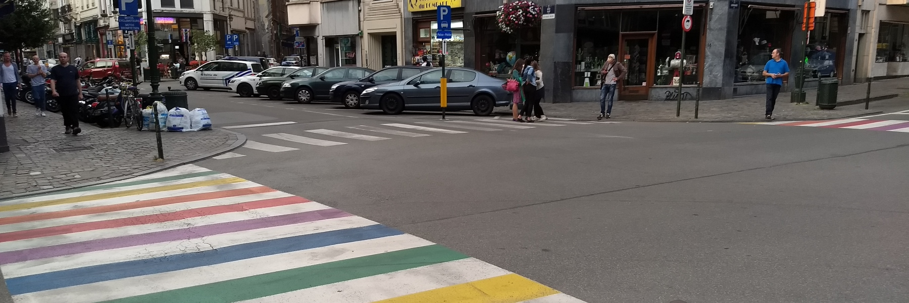 Brussels zebra crossings