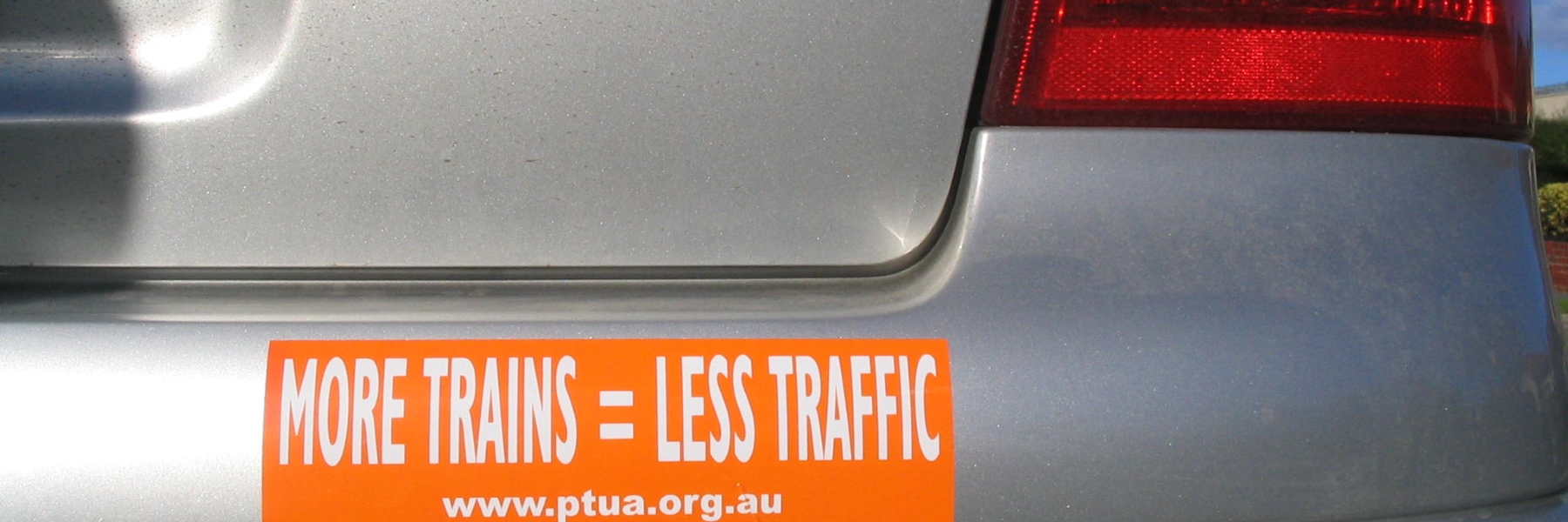 PTUA sticker on car