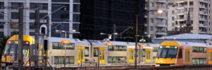 Trains at Sydney Milsons Point station